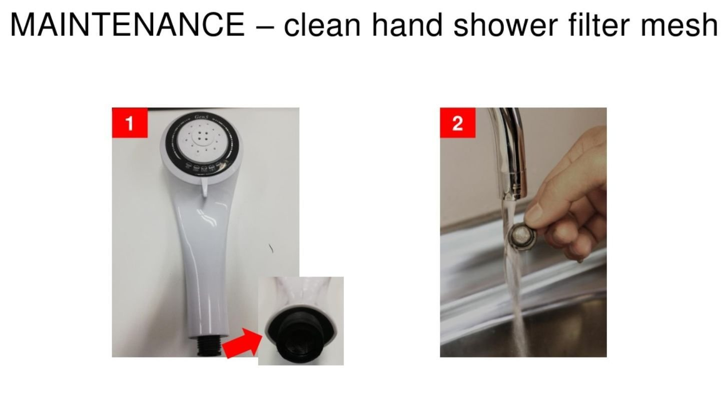 Clean Hand Shower Filter Mesh
