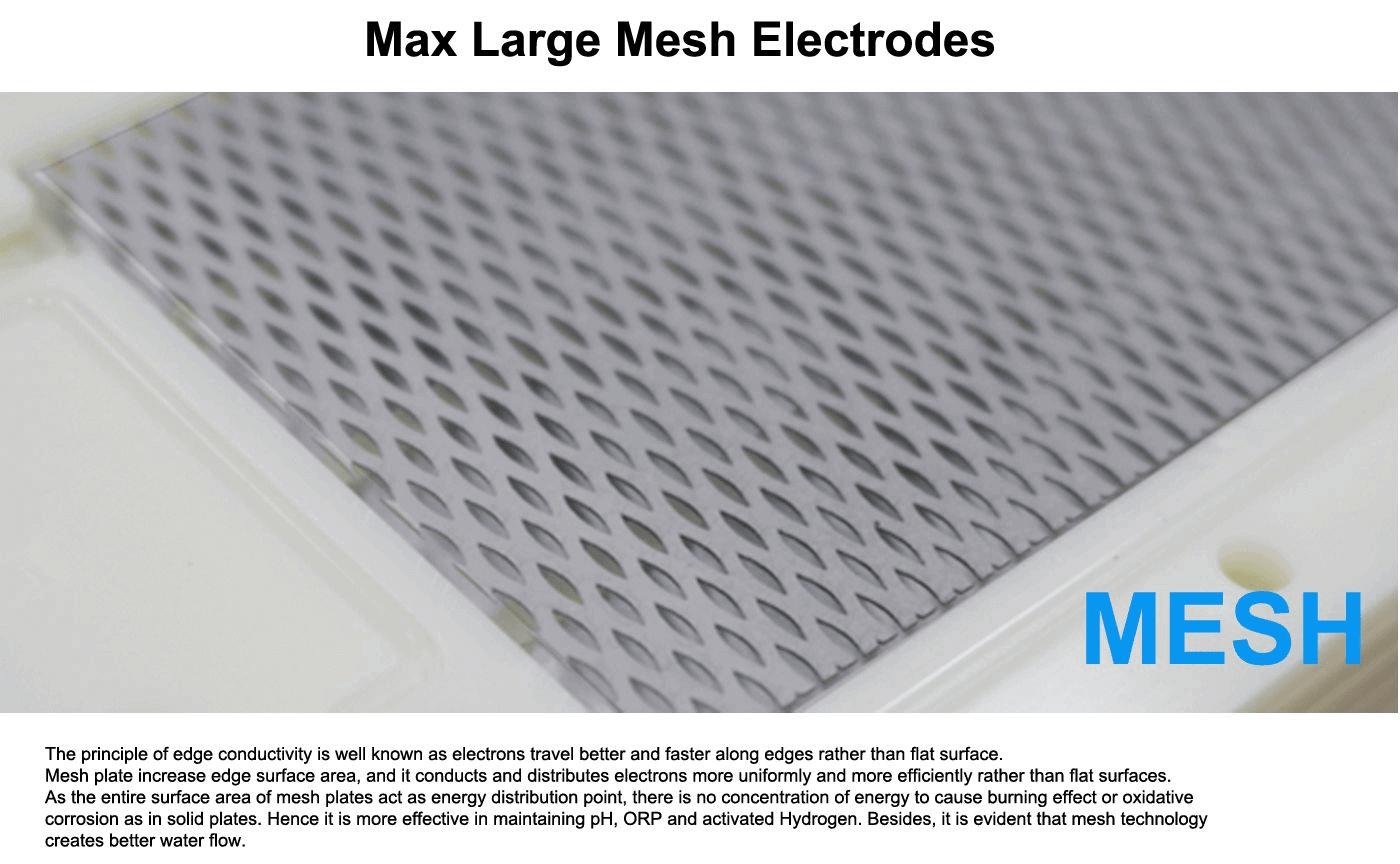 Alkaline Water Ionizer with Mesh Platinum coated titanium plates