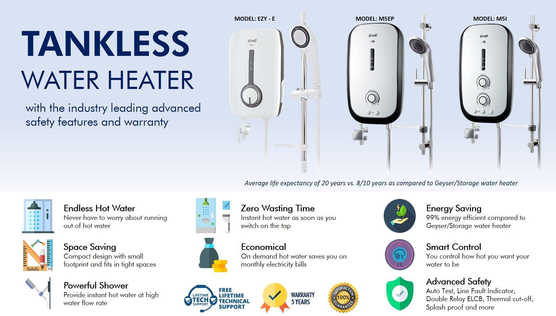 Tank less Shower Water Heater