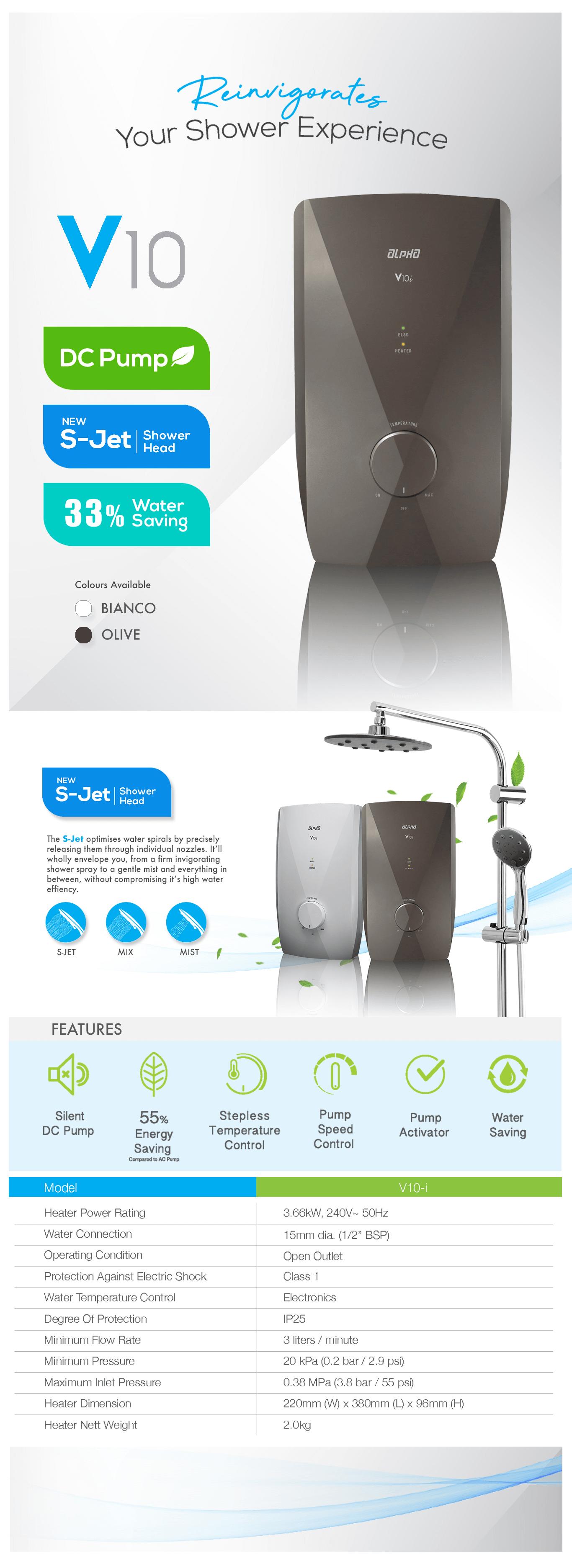 Walkaline India V10i Shower Water Heater - Brochure