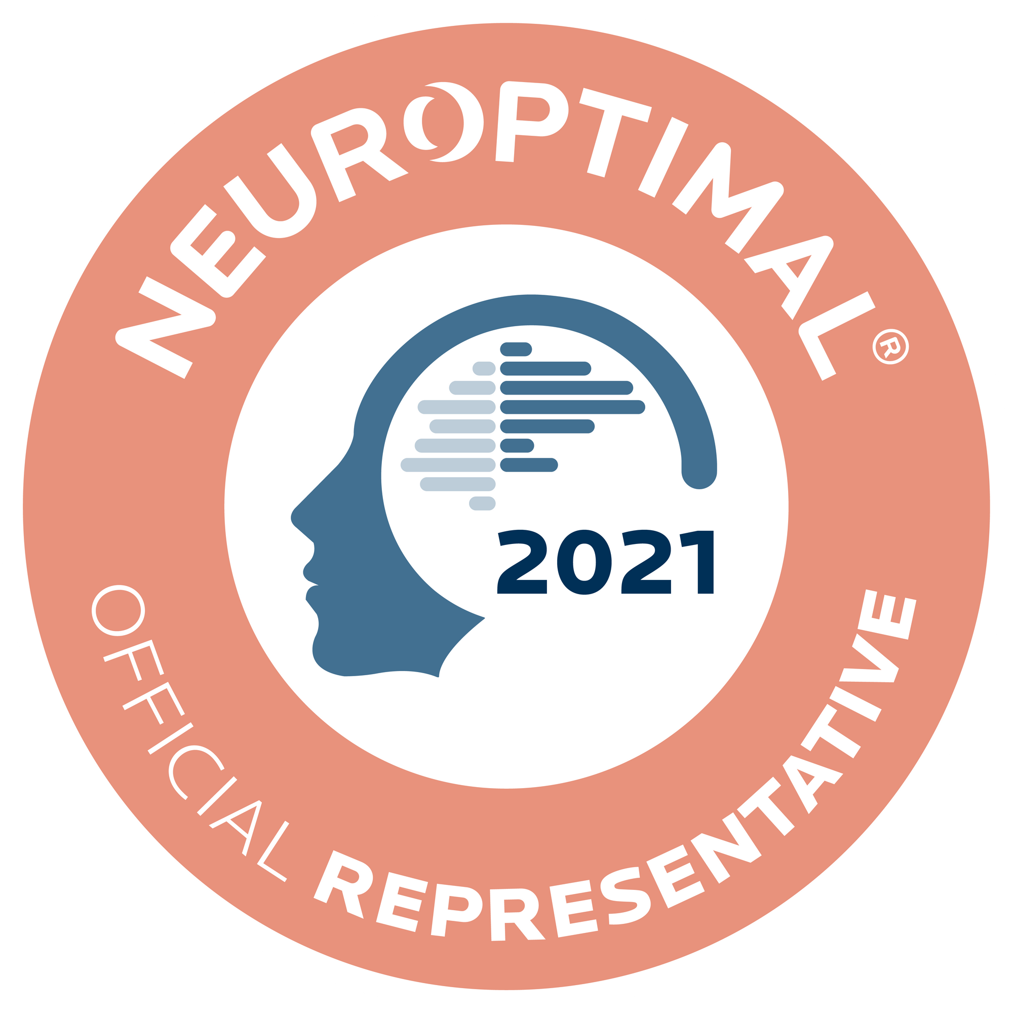 Official badge for being an Official Representative for Neuroptimal.
