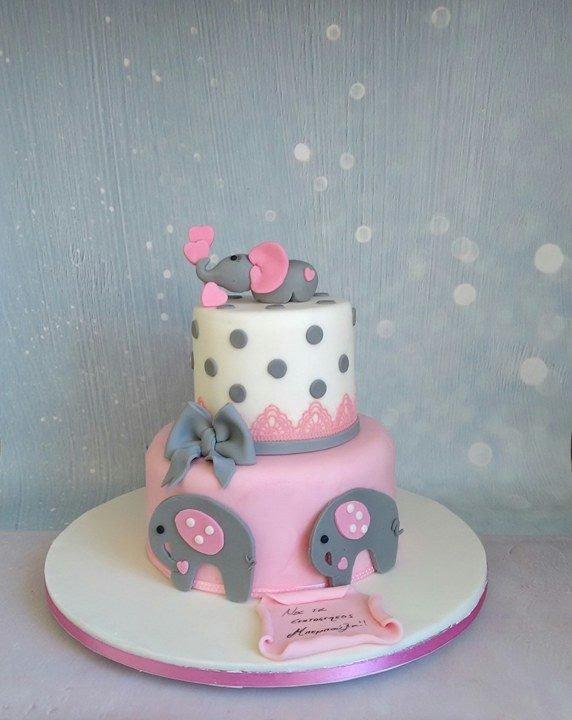 βαπτισης τούρτα απο ζαχαρόπαστα baby elephant ζαχαροπλαστείο καλαμάτας madame charlotte, birthday theme cakes baby elephant kalamata