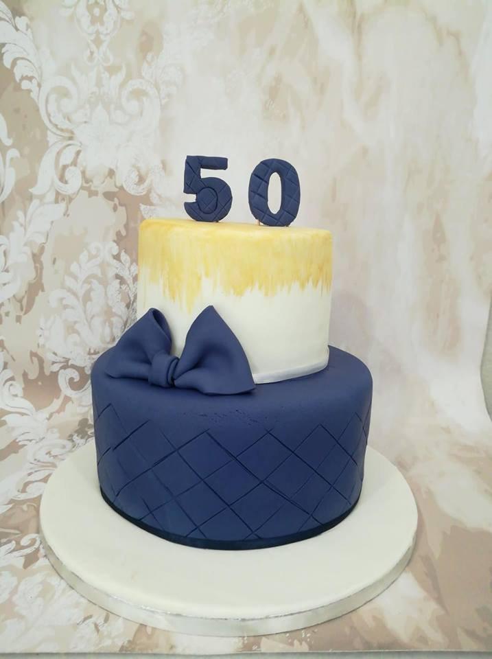 τούρτα γενεθλίων από ζαχαρόπαστα 50 ετων happy 50's,  Ζαχαροπλαστειο καλαματα madame charlotte, birthday cakes kalamata