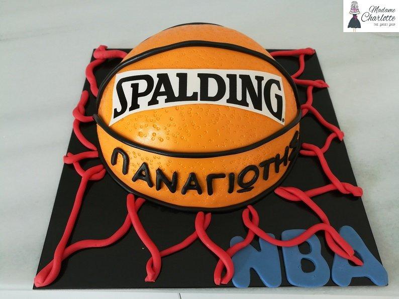 τούρτα από ζαχαρόπαστα basket, Ζαχαροπλαστείο καλαμάτα madame charlotte, τούρτες γεννεθλίων γάμου βάπτησης παιδικές θεματικές birthday theme party cake 2d 3d confectionery patisserie kalamata