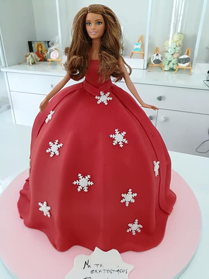 τούρτα από ζαχαρόπαστα barbie, Ζαχαροπλαστείο καλαμάτα madame charlotte, τούρτες γεννεθλίων γάμου βάπτησης παιδικές θεματικές birthday theme party cake 2d 3d confectionery patisserie kalamata