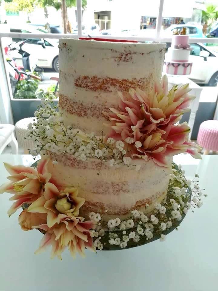 τούρτα χωρίς ζαχαρόπαστα ανθη λουλουδια μπουμπουκια τριανταφυλλα yellow flowers, ζαχαροπλαστείο καλαμάτα madame charlotte, birthday wedding party cakes 2d 3d kalamata