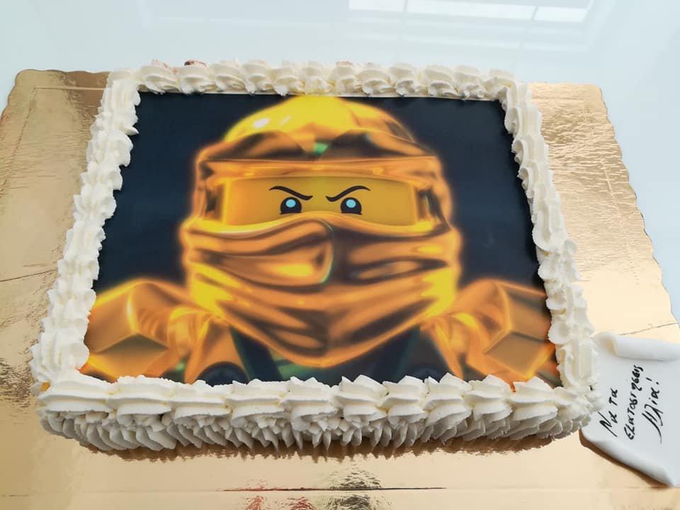 τούρτα από ζαχαρόπαστα ninjago, Ζαχαροπλαστείο καλαμάτα madame charlotte, τουρτες παρτι παιδικες γενεθλιων madamecharlotte.gr birthday cakes kalamata