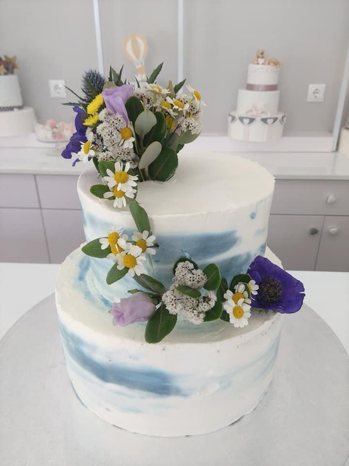 τούρτα γάμου χωρίς ζαχαρόπαστα και πραγματικά φυσικά λουλούδια, Ζαχαροπλαστειο καλαματα madame charlotte, wedding cakes kalamata