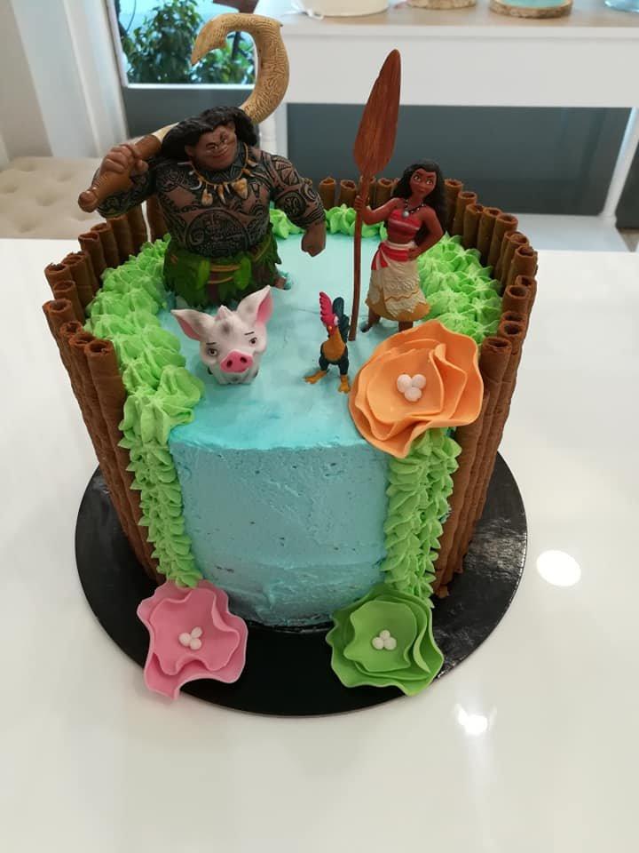 τούρτα χωρίς ζαχαρόπαστα moana, ζαχαροπλαστείο καλαμάτα madame charlotte, birthday wedding party cakes 2d 3d kalamata