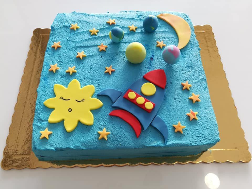 τούρτα χωρίς ζαχαρόπαστα διαστημόπλοιο, ζαχαροπλαστείο καλαμάτα madame charlotte, birthday wedding party cakes 2d 3d kalamata
