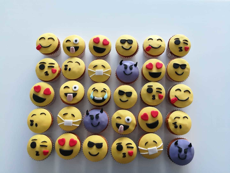 cup cakes emoji παιδικά από ζαχαρόπαστα φατσούλες ζαχαροπλαστείο καλαμάτα madame charlotte, birthday cakes kalamata