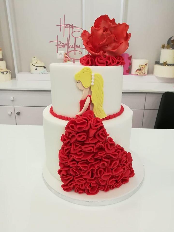 τούρτα από ζαχαρόπαστα Lady's themed cake, Ζαχαροπλαστεία στη Καλαμάτα madame charlotte, τούρτες γεννεθλίων γάμου βάπτησης παιδικές θεματικές birthday theme party cake 2d 3d confectionery patisserie kalamata