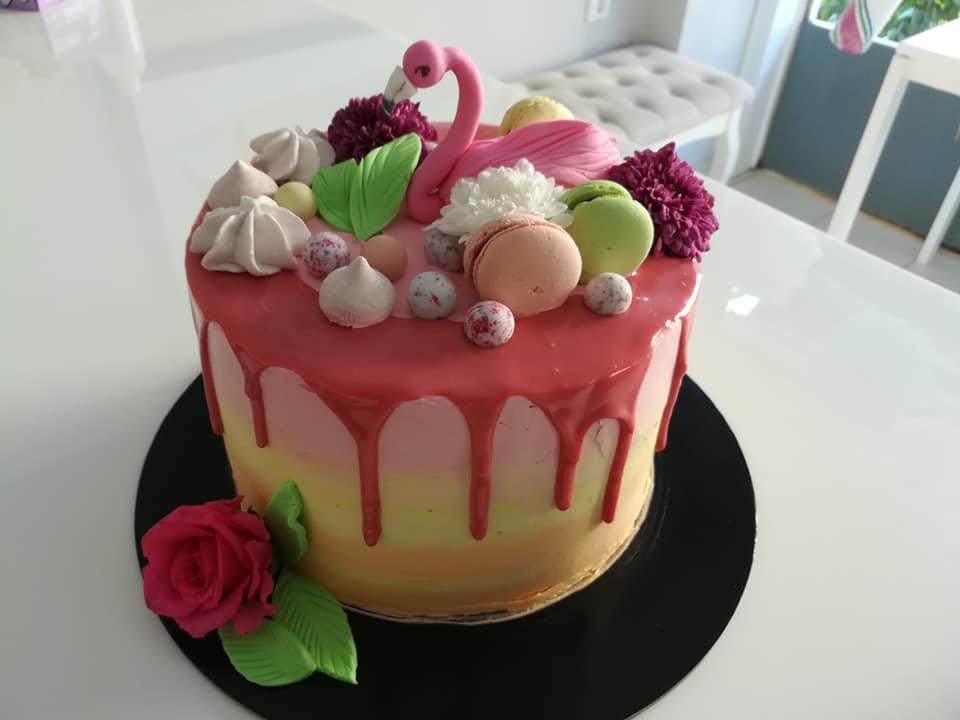 τούρτα χωρίς ζαχαρόπαστα glamingo themed cake, ζαχαροπλαστείο Καλαμάτα madame charlotte, birthday wedding party cakes 2d 3d kalamata