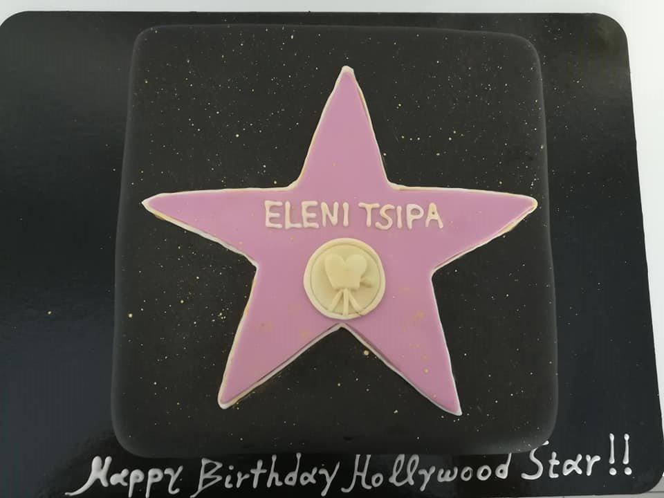 τούρτα από ζαχαρόπαστα hollywood star themed cake, Ζαχαροπλαστεία Καλαμάτα madame charlotte, τούρτες για πάρτι παιδικές γενεθλίων για αγόρια για κορίτσια για μεγάλους, birthday themed cakes patisserie confectionery kalamata
