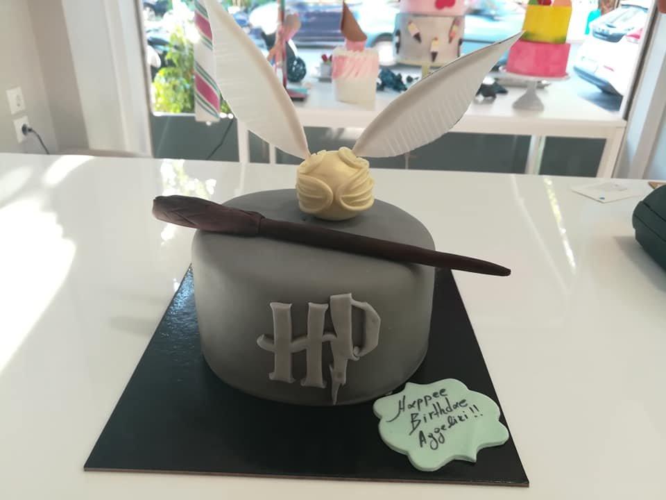 τούρτα από ζαχαρόπαστα harry poter η μπάλα του quidditch themed cake, Ζαχαροπλαστεία στη Καλαμάτα madame charlotte, τούρτες γεννεθλίων γάμου βάπτησης παιδικές θεματικές birthday theme party cake 2d 3d confectionery patisserie kalamata