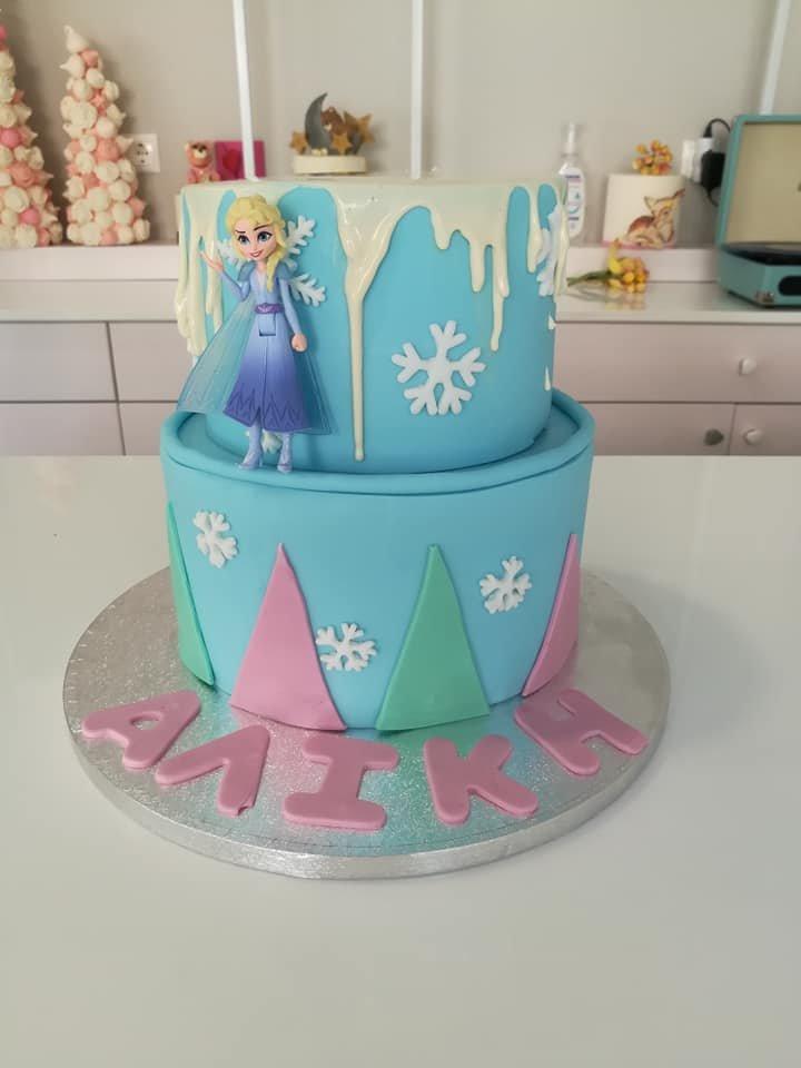 τούρτα από ζαχαρόπαστα frozen 2-οροφη themed cake, Ζαχαροπλαστεία στη Καλαμάτα madame charlotte, τούρτες γεννεθλίων γάμου βάπτησης παιδικές θεματικές birthday theme party cake 2d 3d confectionery patisserie kalamata