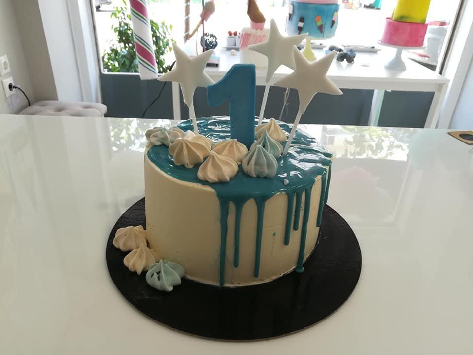τούρτα χωρίς ζαχαρόπαστα my one y.o. star themed cake, ζαχαροπλαστείο Καλαμάτα madame charlotte, birthday wedding party cakes 2d 3d kalamata