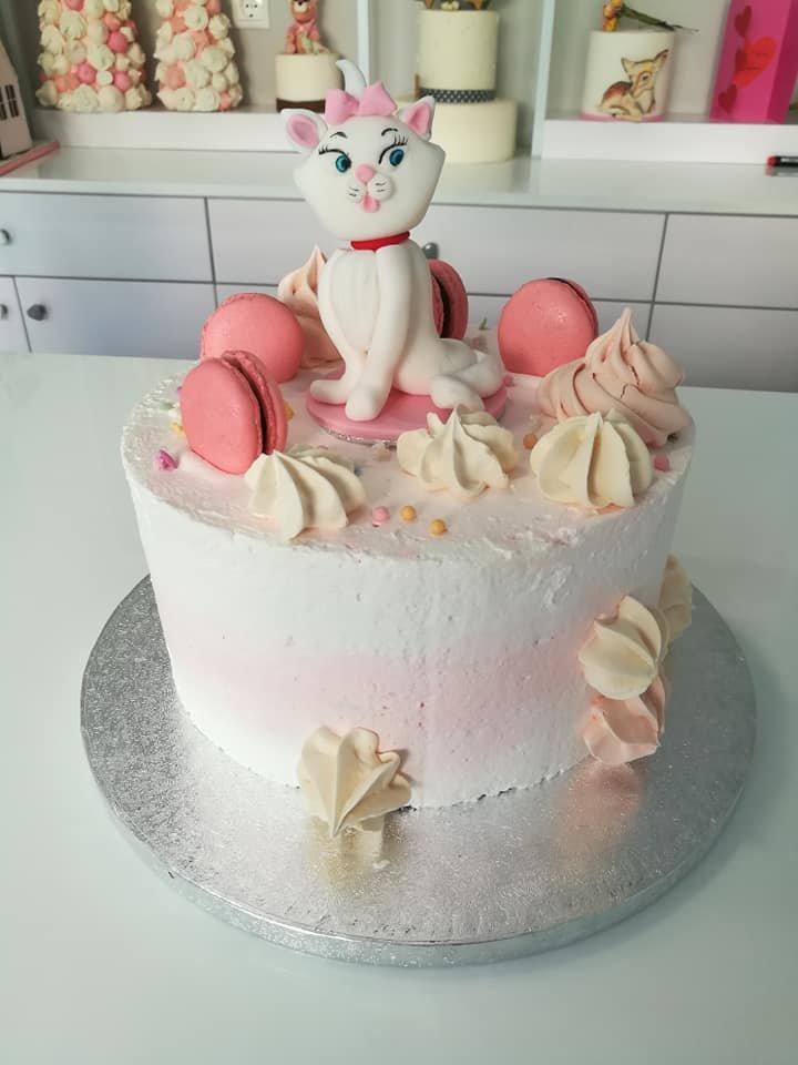 τούρτα χωρίς ζαχαρόπαστα γατούλα, kitten pussy cat cake themed cake, ζαχαροπλαστείο Καλαμάτα madame charlotte, birthday wedding party cakes 2d 3d kalamata