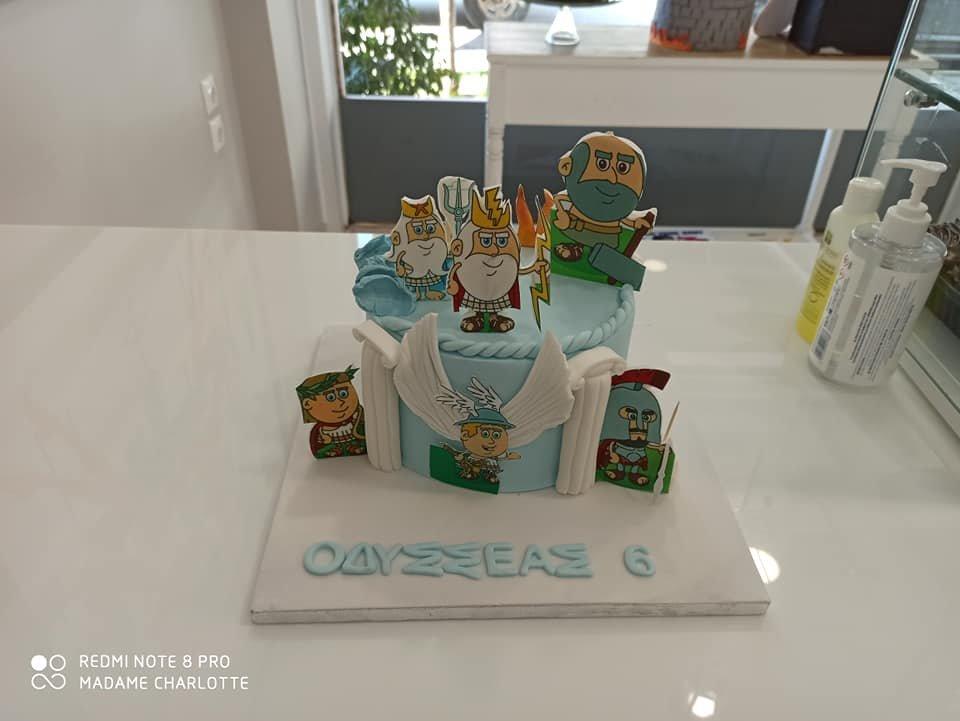 τούρτα από ζαχαρόπαστα οι θεοι του ολυμπου olimpus gods themed cake, Ζαχαροπλαστεία Καλαμάτα madame charlotte, τούρτες για πάρτι παιδικές γενεθλίων για αγόρια για κορίτσια για μεγάλους, birthday themed cakes patisserie confectionery kalamata