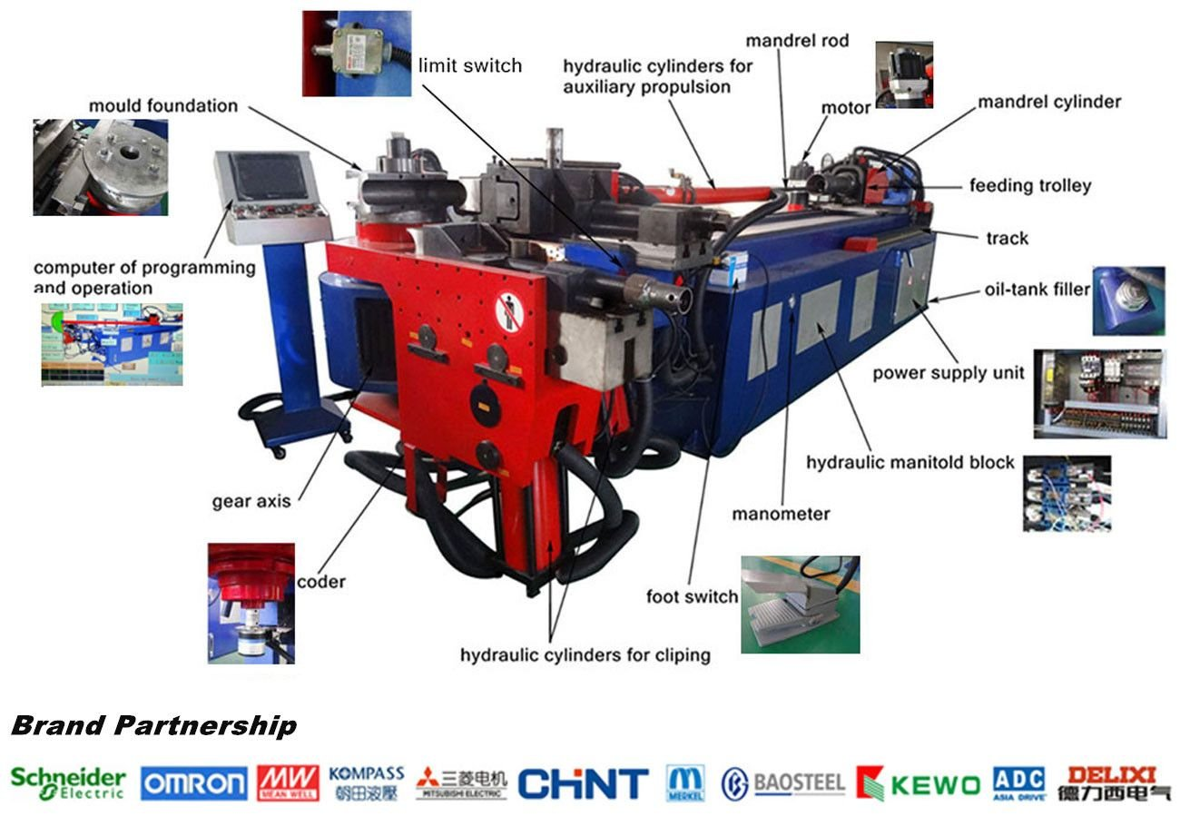 DW38CNC Chinese Automatic Pipe Bending Machine