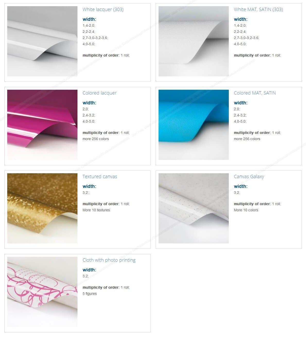 2.35-5.0M width exhibit ceiling coverings 3d pvc stretch ceiling film