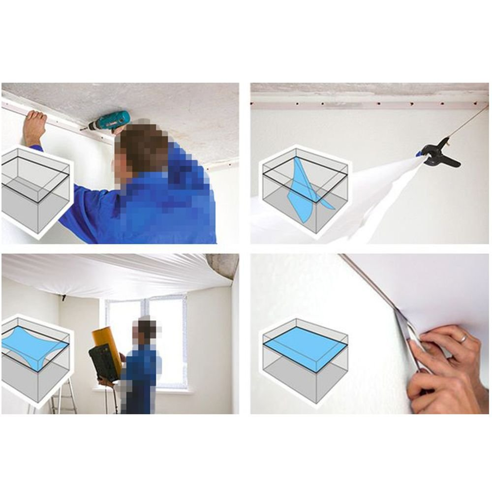 How to repair the soft membrane stretch ceiling film