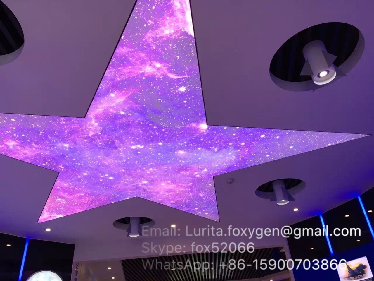 soft uv print pvc stretch ceiling film system has been widely popularized in China.