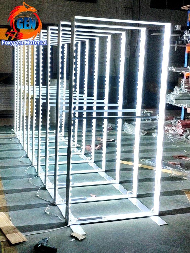 Foxygen Freestanding Trade Show LED backlit Light boxes