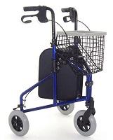 Image of a three-wheeled rollator