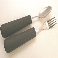 Cutlery with large or contoured handles