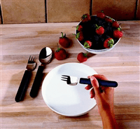 Combination cutlery for one-handed use
