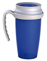 Spill-resistant cups and mugs