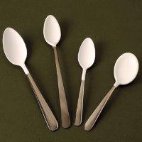 Non-metallic or plastic coated cutlery
