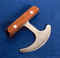 Knives with angled blades or handles