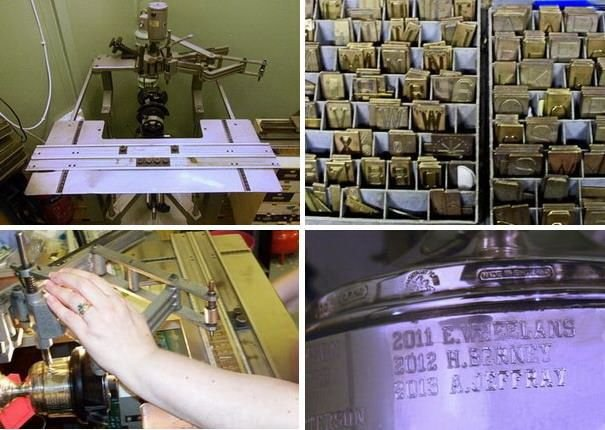 Pantograph engraving equipment trophy cup