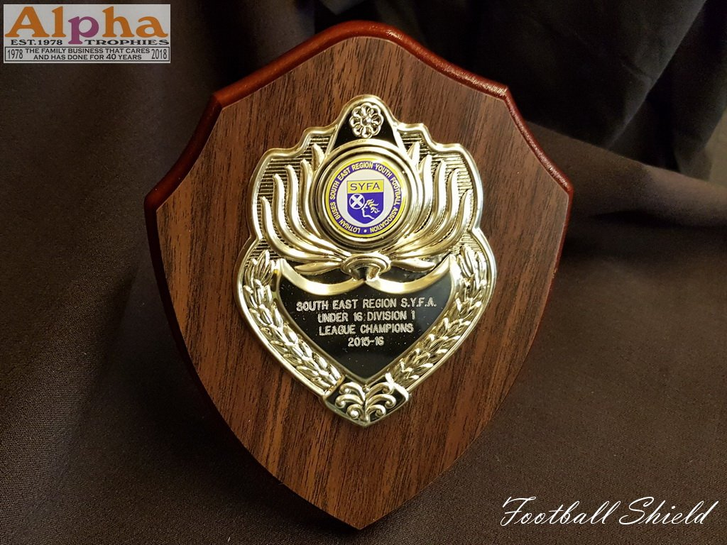 S.E.R.Y.F.A Wood Shield Engraved