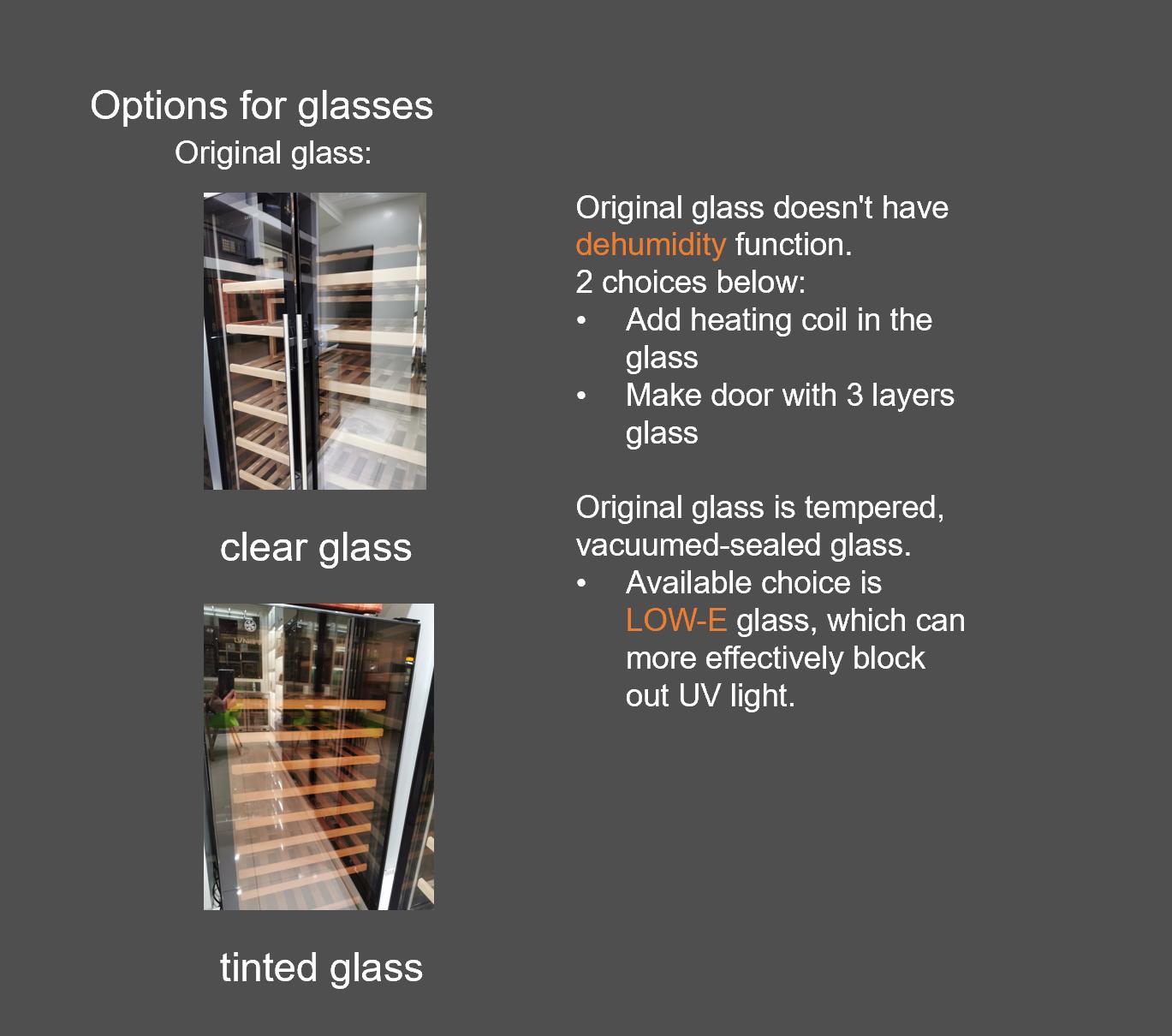 wine cooler fridge with glass door