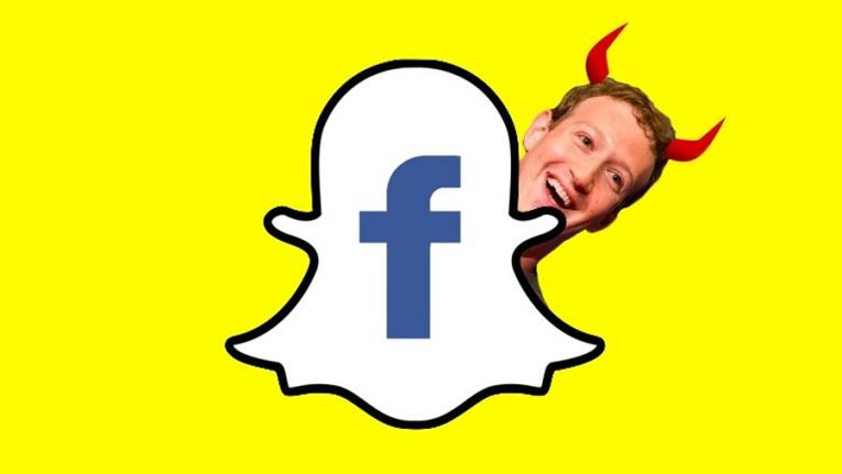 Snapchat логотип с Марком Цукербергом