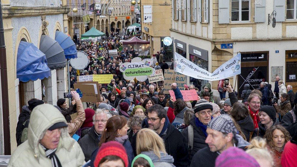 La Marche pour le climat a attiré près d'un millier de manifestants, selon les organisateurs.