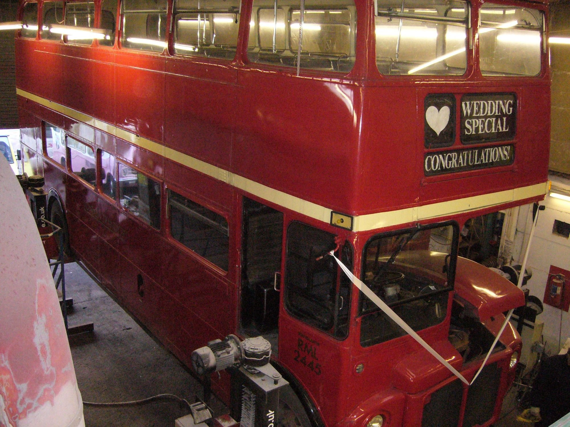 Finishing touches being put on restored Routemaster