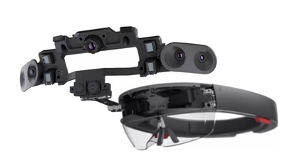HoloLens has sensors for understanding its environment and user actions