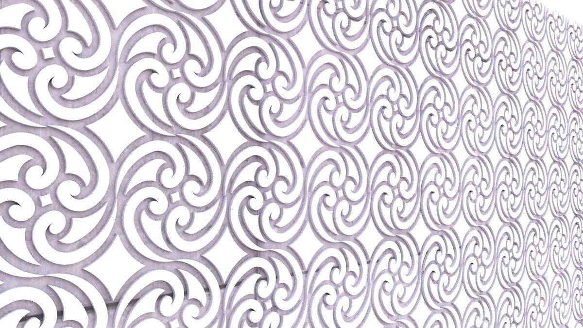 Beispiel 3D Muster Steinwan mit Ornamenten