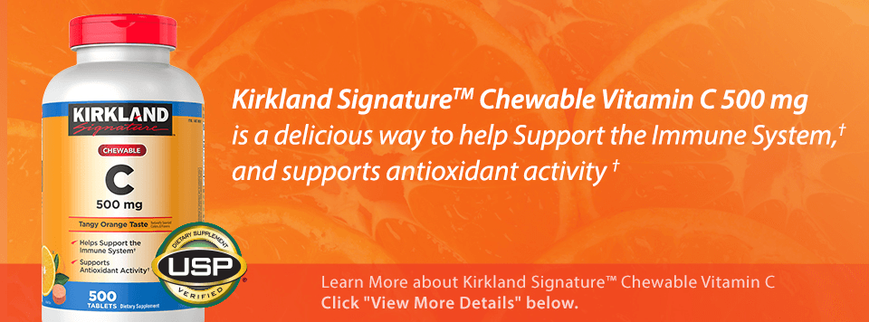 Kirkland Signature™ Chewable Vitamin C helps support the Immune System,† and antioxidant activity†