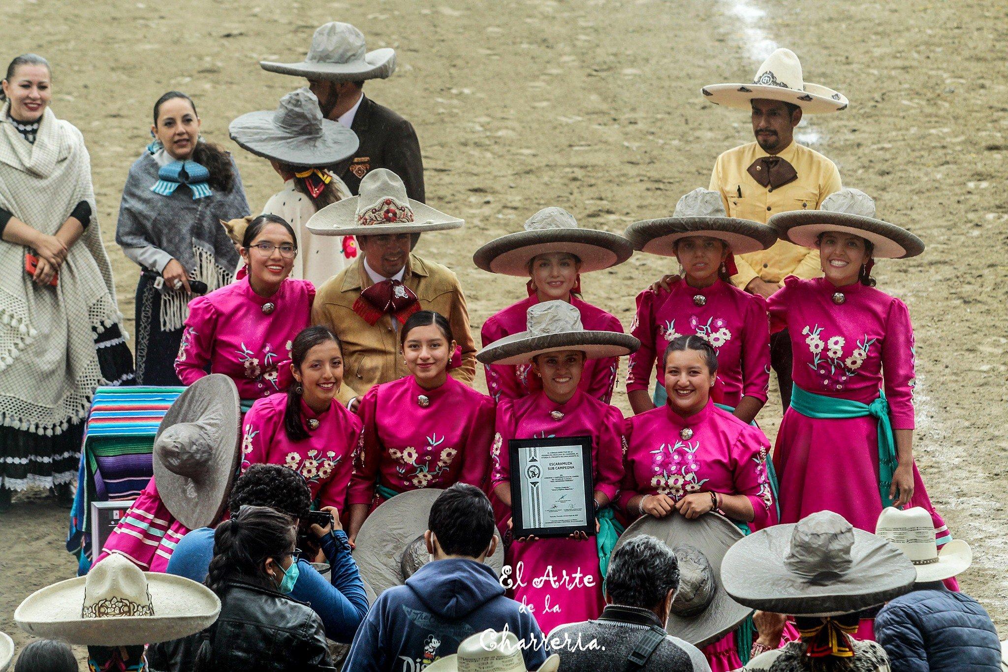 Sub Campeonas Estatales del Estado de Tlaxcala, Foto: Fuente El Arte de la Charrería