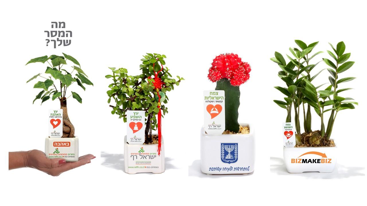 מתנות לראש השנה, מתנות לעובדים, מתנות ללקוחות, עציצים ממותגים