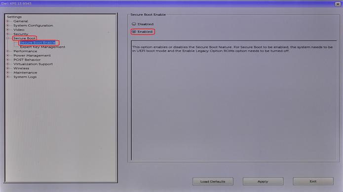 BIOSm Enable Secure Boot