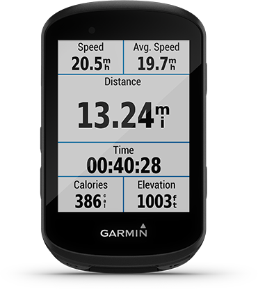 Edge 530 con la pantalla de Garmin Connect