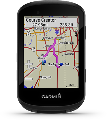 Edge 530 con la pantalla de Garmin Cycle Map