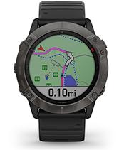 fēnix 6X Pro y Zafiro con la pantalla de navegación