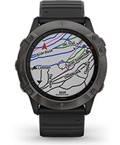 fēnix 6X Pro Solar con la pantalla de mapas de esquí TopoActive de Europa